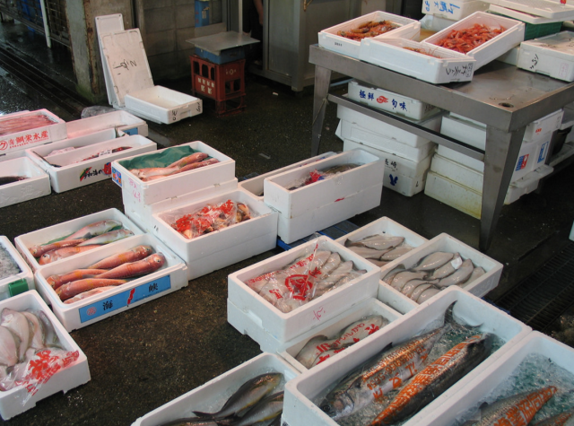 Tsukiji Fish Market is Japan's first wholesale food market