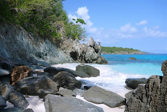 Trunk Bay is located on Saint John, in the middle of the Caribbean Seas