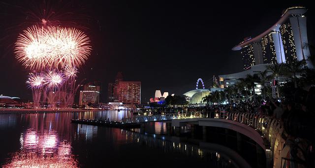 Fireworks at The Float@Marina Bay