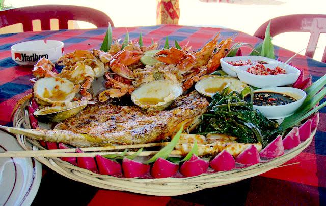 Visit Kuta or Jimbaran for the best seafood in Bali