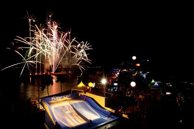 Fireworks at Siloso Beach