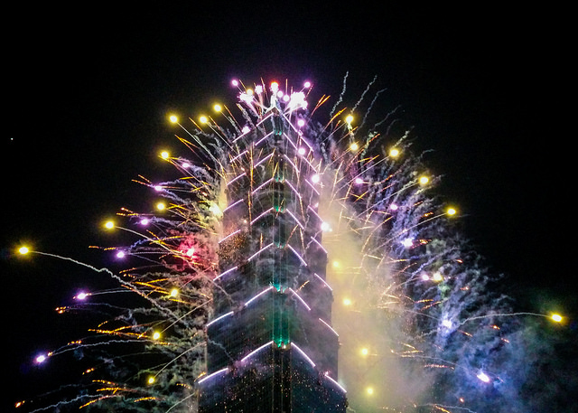 Fireworks at Taipei 101
