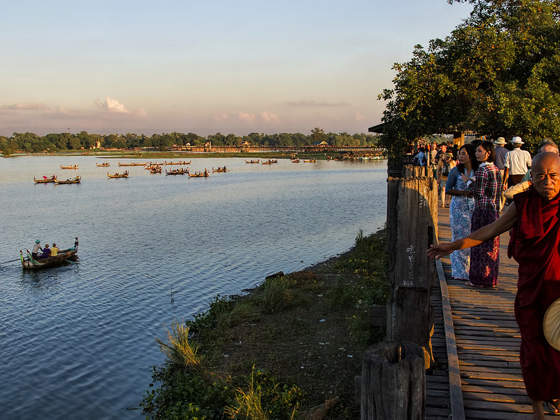 Mandalay, Myanmar: U-bein Bridge